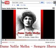 Dame Nellie Melba - Sempre libera